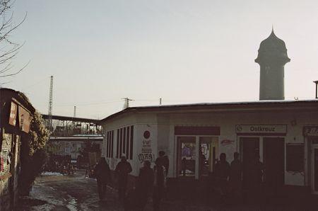 Berlin, Ostkreuz, Sonntagstraße: Eingang