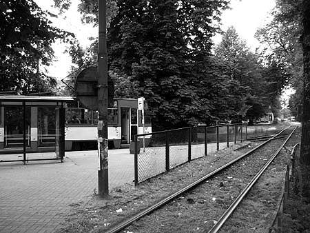 Wendeschleife der Straßenbahnlinie 13 in Danzig-Brösen