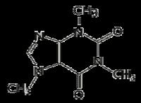 Strukturformel des Koffein