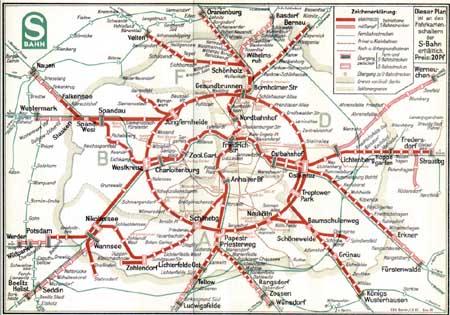 Berliner S-Bahn Streckennetz 1951