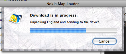 Unpacking England and sending to the device.