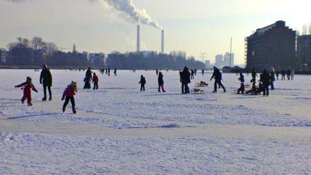 Stralau auf dem Eis